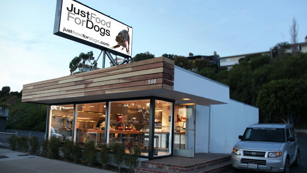 Exterior of Just Food for Dogs. — NB Indy photo ©