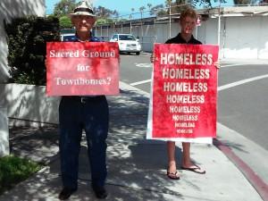 Sacred Ground Homeless signs