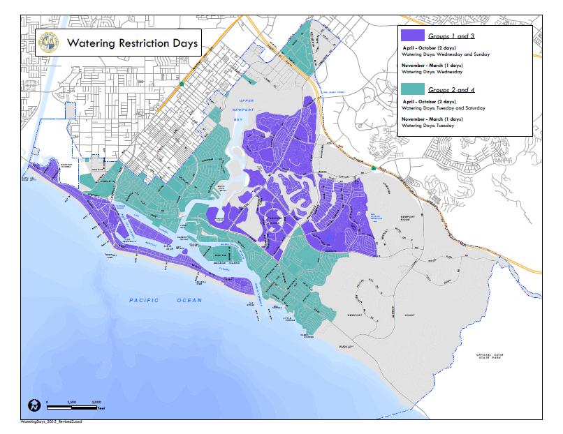 City Of Newport Beach Watering Schedule