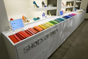 Shoes of Prey display at Nordstrom in Fashion Island