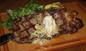 Fire-grilled rib eye steak