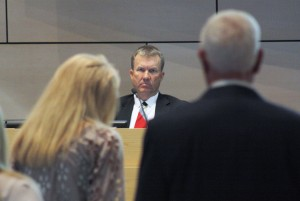 Councilman Scott Peotter listens to comments from the public at this week's City Council meeting. Photo by Chris Trela
