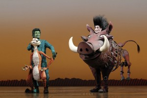 Nick Cordileone as Timon and Ben Lipitz as Pumbaa in THE LION KING National Tour. Photo Credit-Joan Marcus