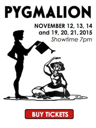 "Newport Harbor High School presents ""Pygmalion,"" by George Bernard Shaw. — Art courtesy NHHS Drama"