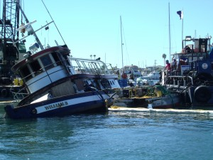 Fire destroyed the classic wooden tugboat, William B.