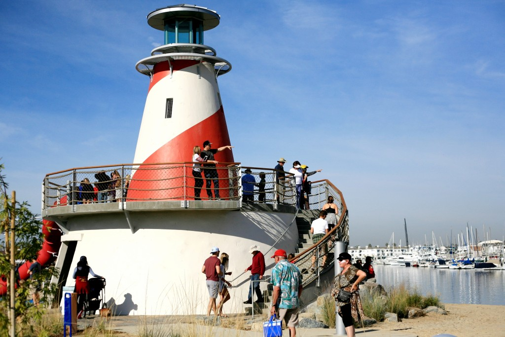 The children's play area includes a lighthouse structure. — Photo by Sara Hall ©
