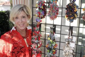 Cynthia DeBaun with her jewelry