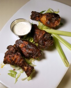 Smoked chicken wings at Skyloft