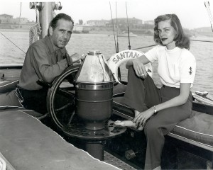 Bogart and Bacall aboard the Santana