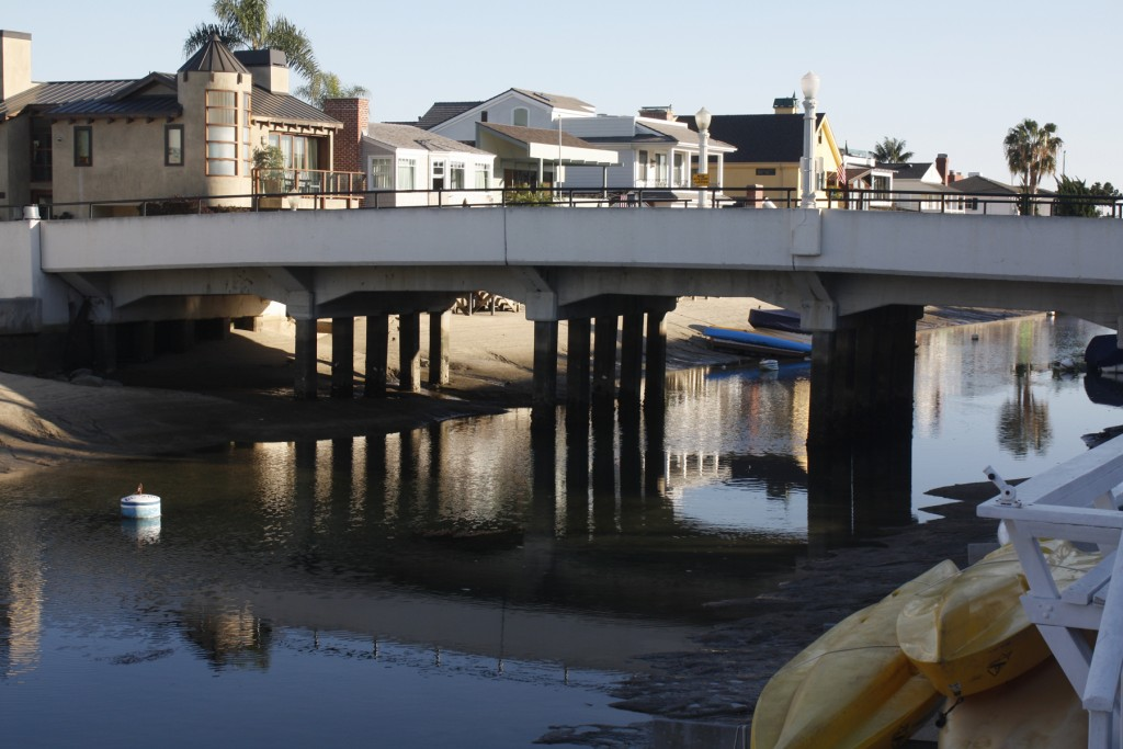 The Park Avenue bridge leading to Little Balboa Island is scheduled to be replaced this year. — Photo by Christopher Trela ©