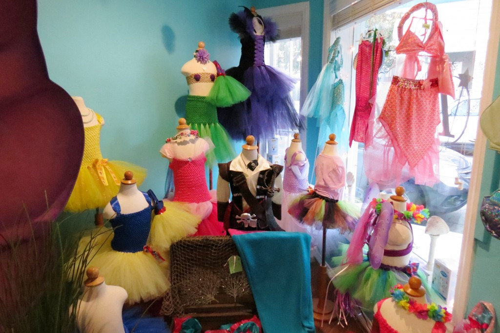 Dresses on display at the Balboa Island shop. — Photo by Elizabeth Greenberg ©
