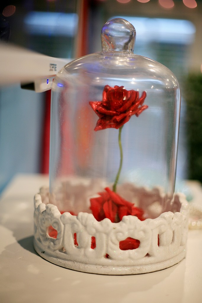 The rose from Princess Belle's story on display in the shop. — Photo by Sara Hall ©