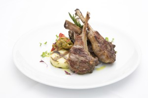 Fig & Olive lamb chops