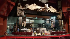 "Loading the ""Wicked"" set into Segerstrom Center"