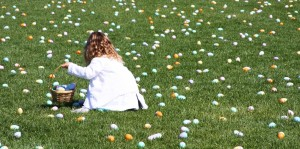 Easter egg hunt at Pelican Hill