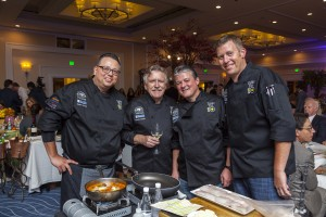 Event Chair Pascal Olhats from Pascal and Cafe Jardin, second from left, with The Winery Restaurant & Wine Bar's team, from left, Daniel Garcia, Executive Chef Yvon Goetz and Jim Fritz