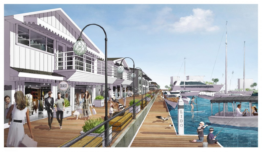 An artist rendering of Lido Marina Village. — Photo courtesy DJM Development ©