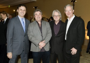 President of The Pacific Symphony John Forsyte, Founder of the Pacific Coast Wine Festival Mike Kerr, Music Director of The Pacific Symphony Carl St. Clair, and Event Chair Greg Bates.