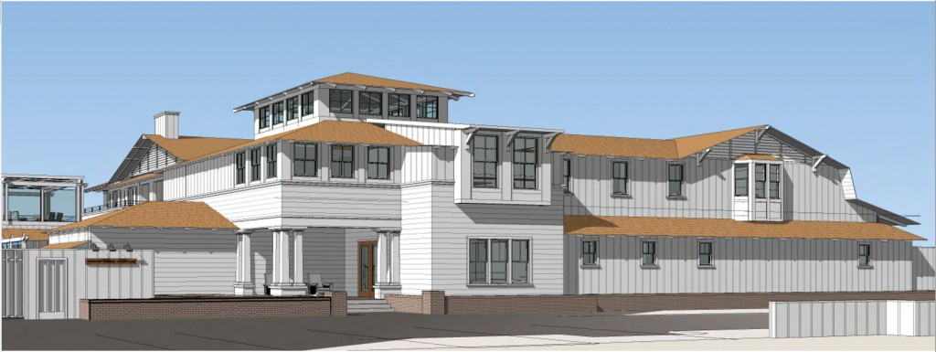 Rendering of new Newport Harbor Yacht Club — Courtesy of the city of Newport Beach ©