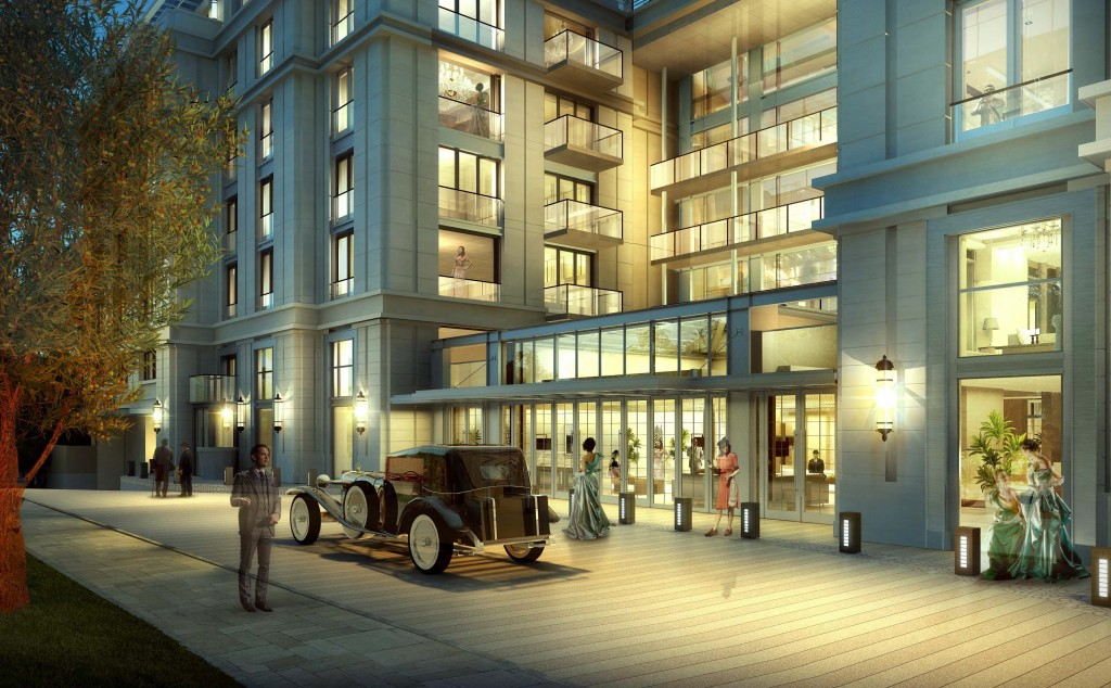An artist's rendering of 150 Newport Center. — Photo illustration courtesy MVE + Partners, Inc. ©