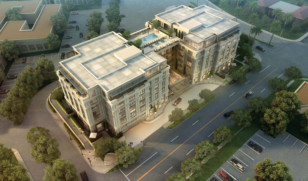 An artist's rendering of an aerial of 150 Newport Center. — Photo illustration courtesy MVE + Partners, Inc. ©