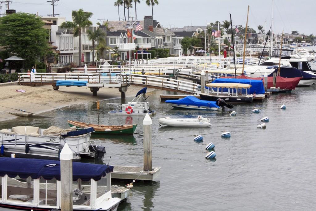 Boats docked at Balboa Island. — NB Indy file photo ©