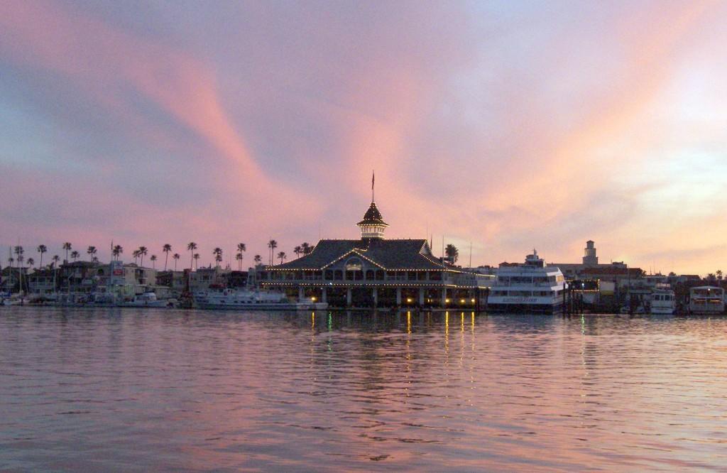 Sunset over the Balboa Pavilion. — NB Indy file photo ©
