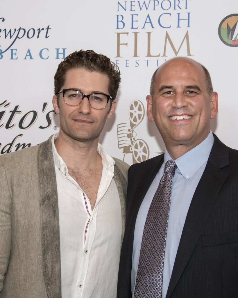 Actor Matthew Morrison with Film Festival Co-Founder and CEO Gregg Schwenk (photo by Charles Weinberg)
