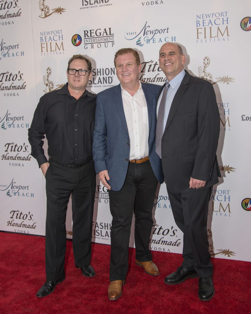Film Festival Co-Founder Todd Quartararo, Newport Beach and Co. President Gary Sherwin, Film Festival Co-Founder Gregg Schwenk (photo by Charles Weinberg)