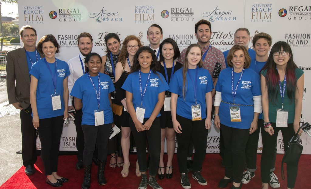 A few of the hundreds of volunteers that make the Film Festival run smooth