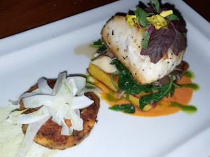 Bluewater Grill halibut