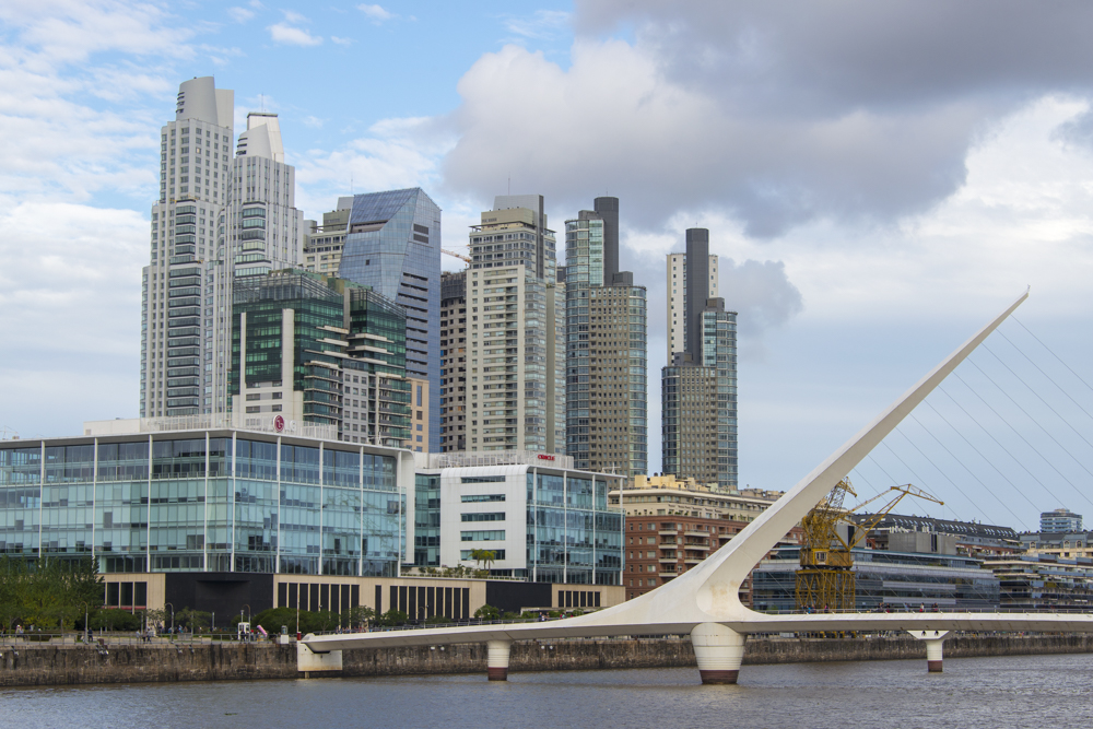 Bridge of Women connects Central Buenos Aires with Puerto Madero. — Photo by Lawrence Sherwin ©