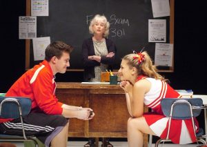 """Nick Tag, Julia Duffy and Alexandra Johnston in """"Sex and Education."""" Photo by Ed Krieger"""