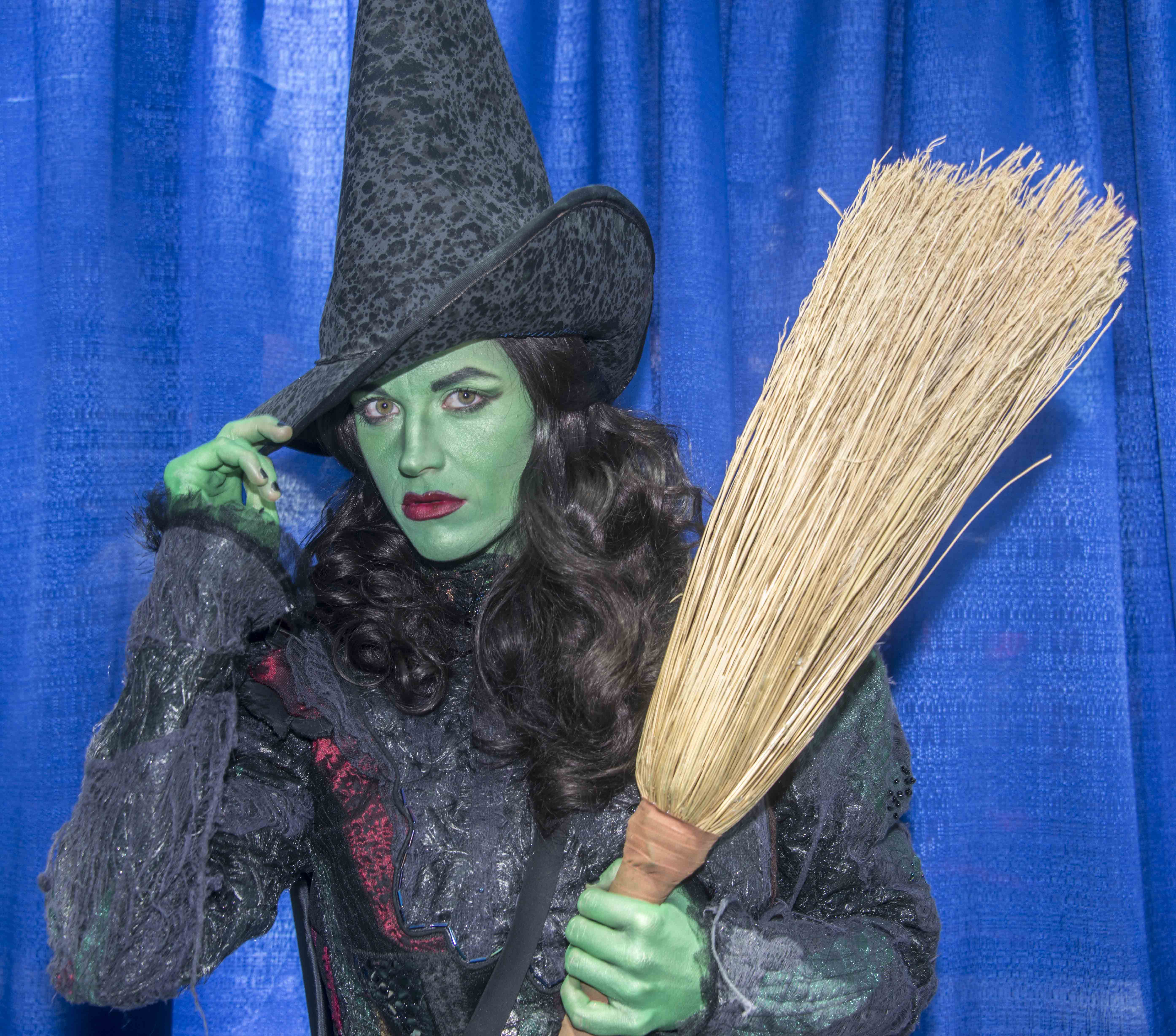 A wicked witch poses for a photo at the event. — Photo by Lawrence Sherwin ©
