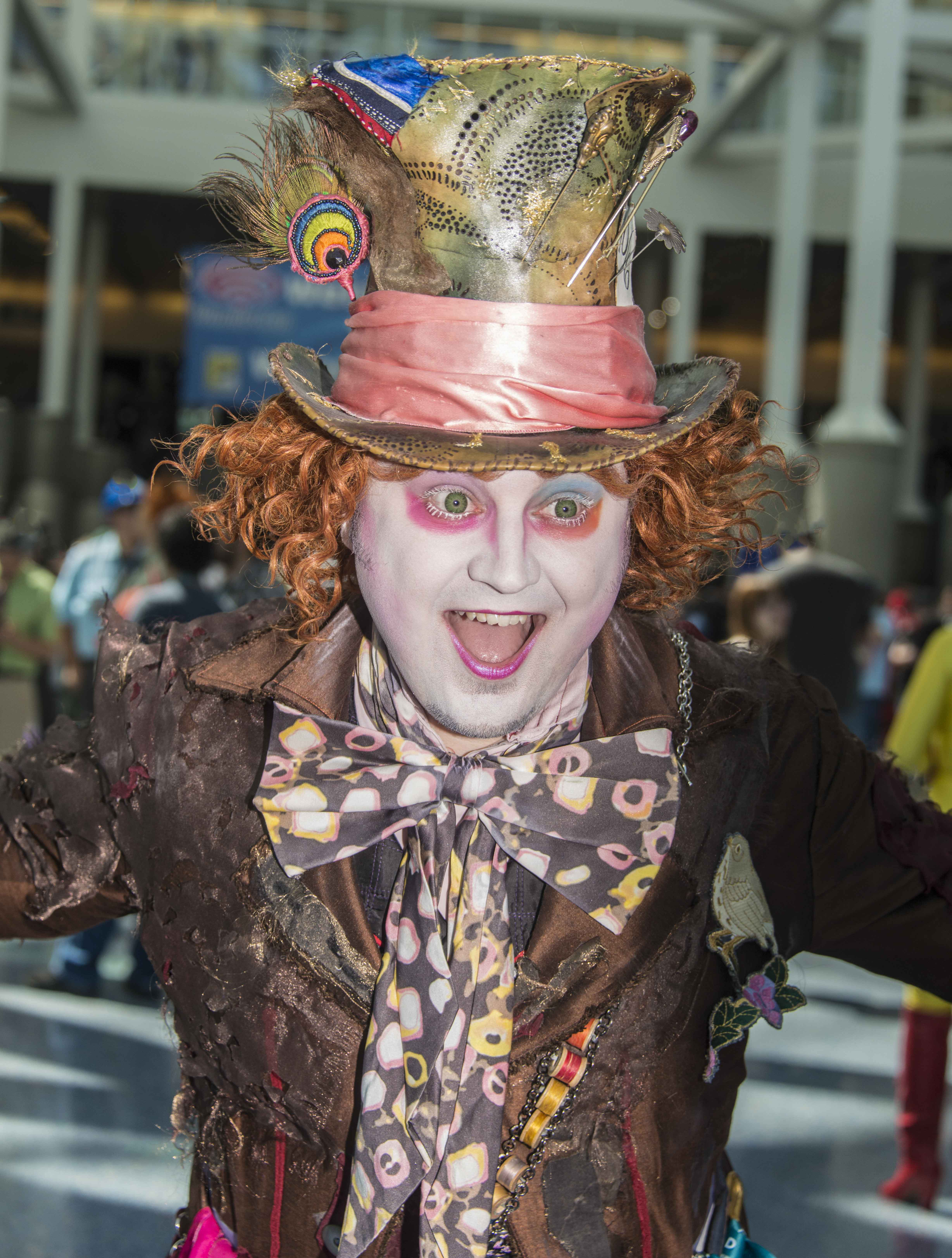 The very happy mad hatter. — Photo by Lawrence Sherwin ©