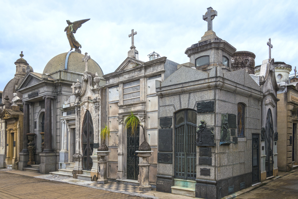 "La Recoleta Cemetery: the final resting place of Eva ""Evita"" Peron. — Photo by Lawrence Sherwin ©"