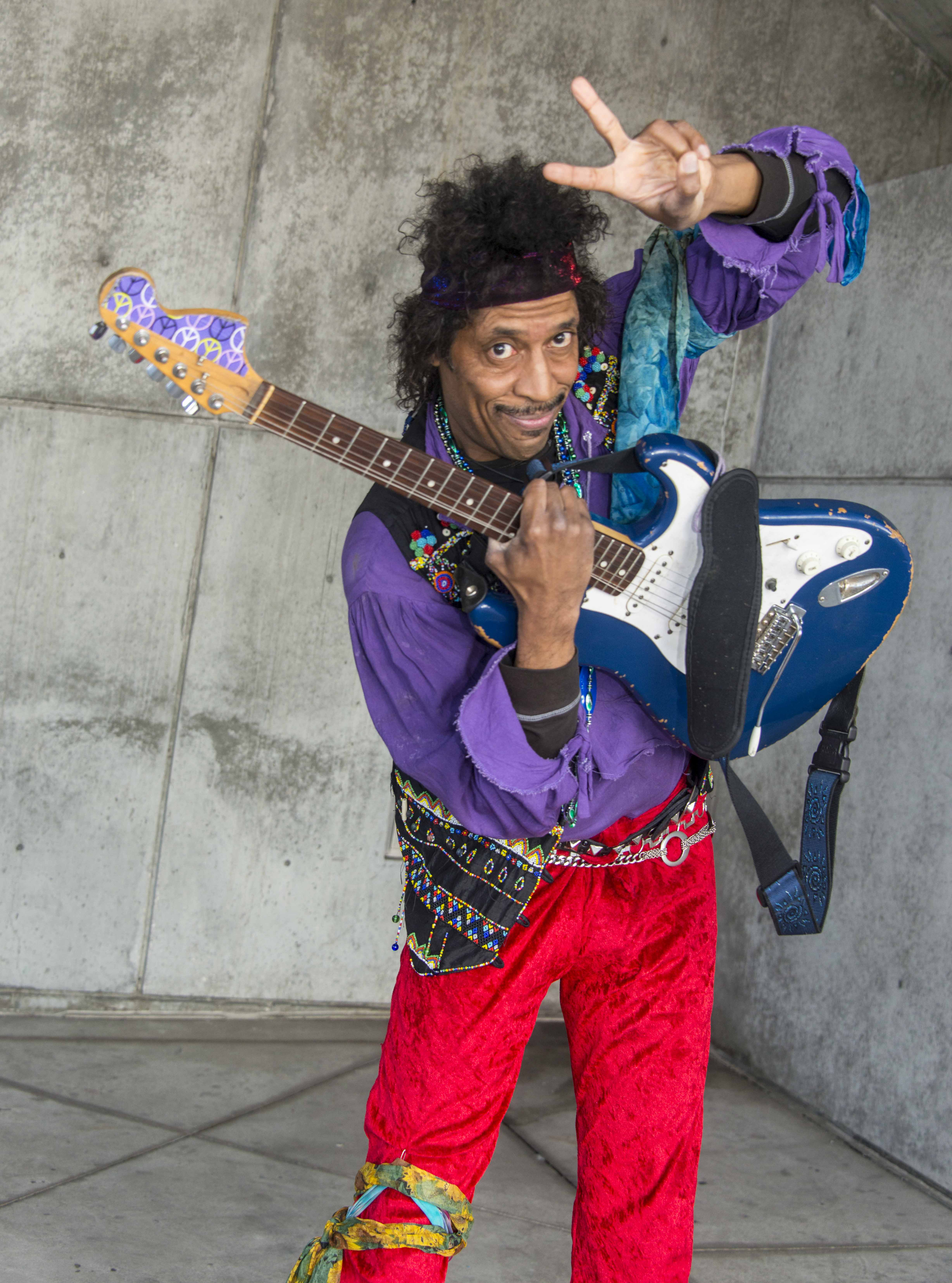 Jimi Hendrix has returned for WonderCon 2016. — Photo by Lawrence Sherwin ©