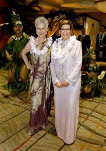 Pacific Symphony Gala Event Co-chairs Ginny Davies and Joann Leatherby