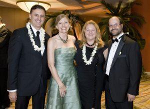 President of the Pacific Symphony John Forsyte, Michele Forsyte, Pacific Symphony musicians Lelie Resnick and Josh Ranz