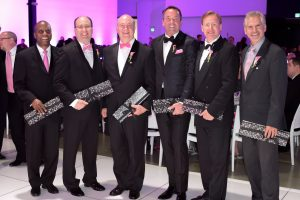 2016 Pink Tie Guys from left to right: Reginald Gilyard, Craig Glorioso, Mark Rutherford, Douglas S. Ingram, Philippe Schaison and Joe Stein.