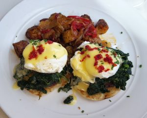 Winery eggs Benedict