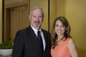 Burton L. Eisenberg, M.D., executive medical director of Hoag Family Cancer Institute, Shannon Miller