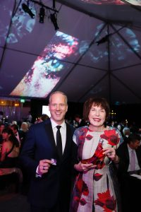 OCMA Director and CEO Todd Smith with honoree Marilyn Minter