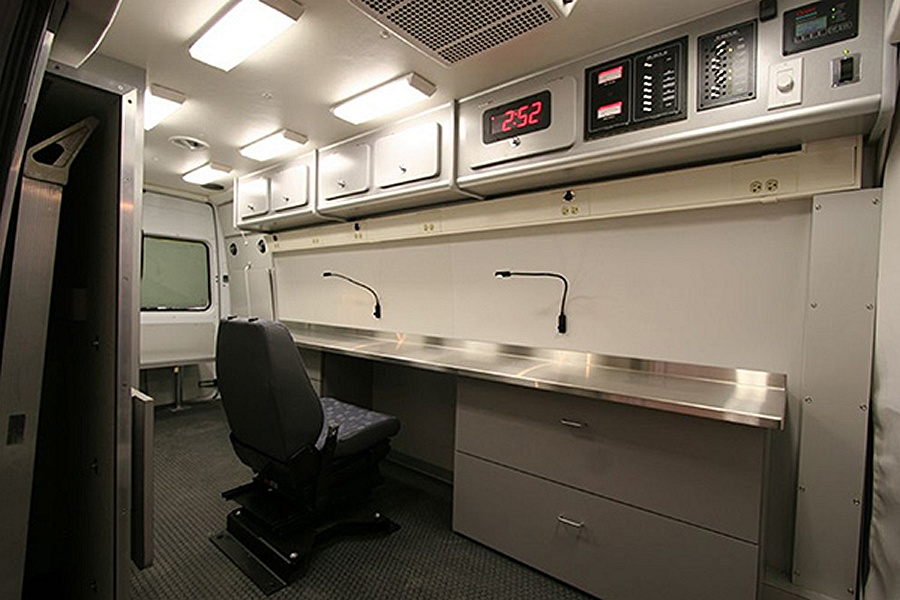 An example of a Farber command post van, similar to what the new Newport Beach Police Department vehicle may look like. — Photo courtesy Farber Specialty Vehicles, Inc. ©