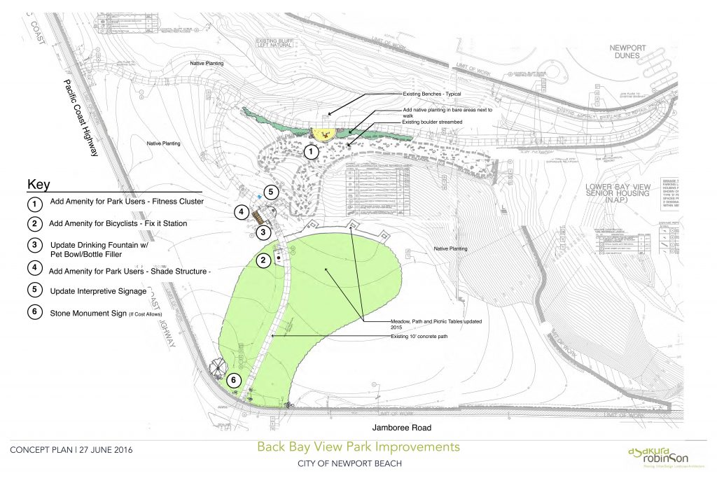An artist's rendering of the proposed improvements to Back Bay View Park. — Photo courtesy city of Newport Beach ©