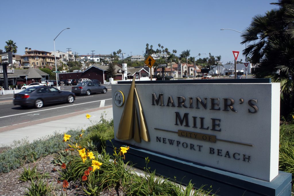 The misspelled welcome sign for Mariners' Mile.  — NB Indy file photo ©