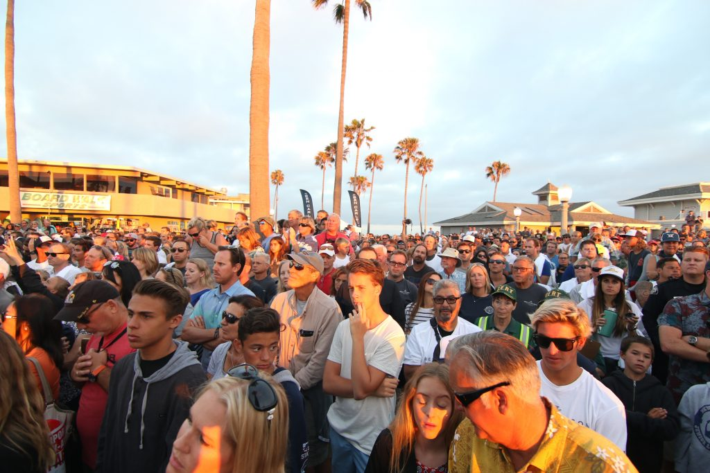 Thousands turned out to honor Ben Carlson and watch the unveiling of the statue. — Photo by Jim Collins ©
