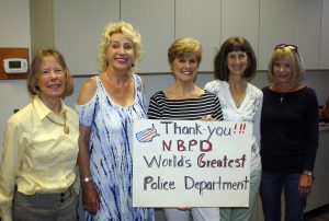 Newport Harbor Republican Women members Patience Bethel, Therese Loutherback, Bonnie O'Neil, Anita Boyd, Missy Schweiger