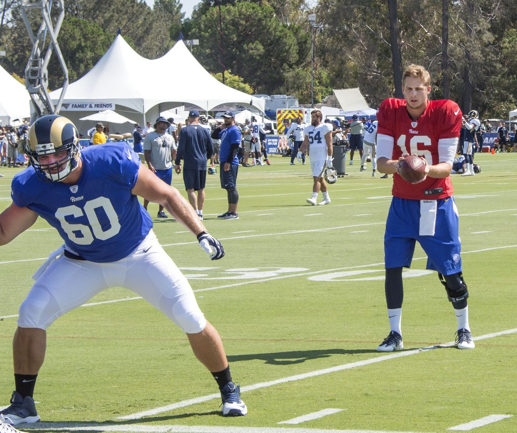 EricKushJaredGoff rams training camp