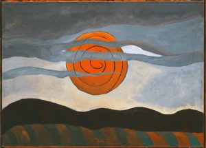"""Red Sun"" by Arthur Dove"